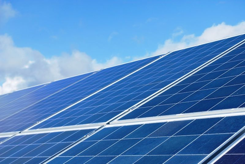 Image of solar panel installed by Wykes